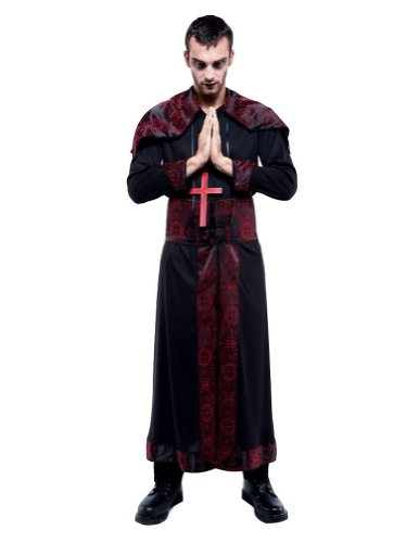 Endless Options Bk/Rd Robe M Halloween Costume