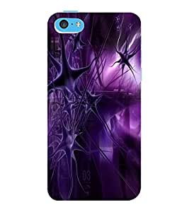 ColourCraft Abstract Image Design Back Case Cover for APPLE IPHONE 5C
