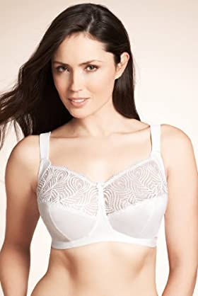 Total Support Satin Lace Bra