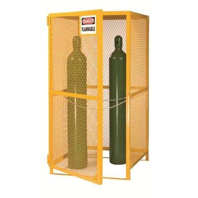 Little Giant GSU-72W-70H Yellow Gas Cylinder Storage Unit, 72