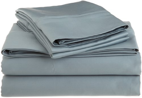 Egyptian Cotton 1200 Thread Count Oversized King Sheet Set Solid, Teal front-1029692
