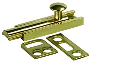 "JR Products 20635 3"" Brass Surface Bolt"