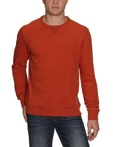 Marc O'Polo Men's 227 4030 54250 Sweatshirt Red (296 Bright Rust) 52