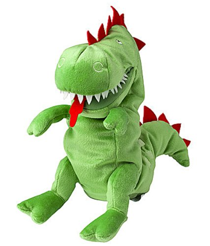 Ikea LASKIG 602.410.11 Glove Hand Plush Puppet, Dragon, 1 Size Fits All, 24 Months and Up