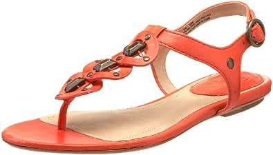 FRYE Women's Laurel Ring Ankle-Strap Sandal, Red, 8 M US