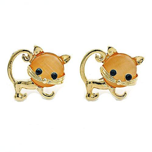 [Mr Ribbt New Style Fashion Jewelry Cute kitten Charm Earrings] (Puck To The Face Costume)