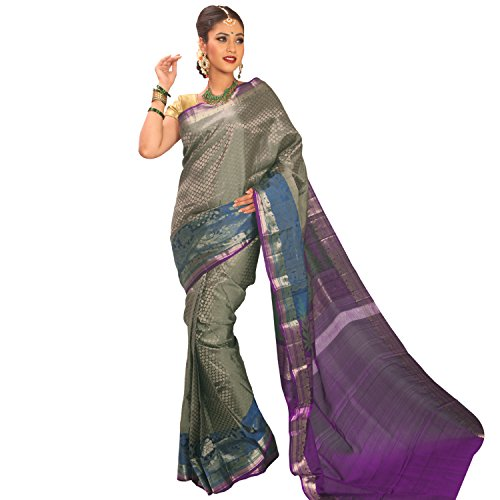ShreeVastra Brocade Soft Silk Saree with Long Border