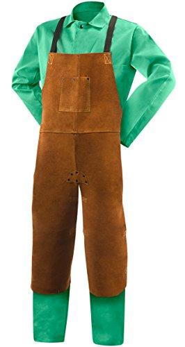Steiner 92171 24-Inch x 42-Inch Bib Apron, Split Leg, Weld-Rite Premium Split Cowhide (Brown)