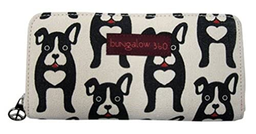 03. Bungalow360 Womens Canvas Zip Around Clutch Wallet