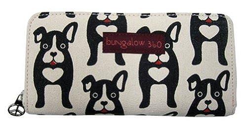 05. Bungalow360 Womens Canvas Zip Around Clutch Wallet