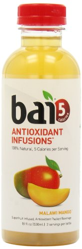 Bai5, 5 calorie Malawi Mango, 100% Natural, Antioxidant Infused Beverage, 18-Ounce Bottles (Pack of 12)
