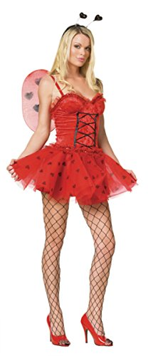 Leg Avenue Womens Love Bug Ladybug Fairy Outfit Fancy Dress Sexy Costume
