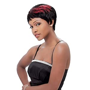Sensationnel 100% Human Hair Bump Wig - Easy 27 (1 - JET BLACK)