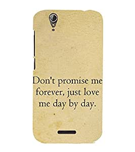 99Sublimation Good Quote on Promise 3D Hard Polycarbonate Designer Back Case Cover for Acer Liquid Z630 :: Acer Liquid Z630S