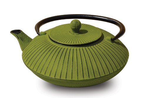 Old Dutch Cast Iron Fidelity Teapot, 27-Ounce, Moss Green front-576958
