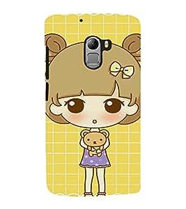 EPICCASE Teddy and Girl Mobile Back Case Cover For Lenovo Vibe K4 Note (Designer Case)