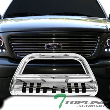 Topline Autopart Chrome HD Bull Bar Brush Push Bumper Grill Grille Guard 02-09 Dodge Ram Truck (Bull Guard For Trucks compare prices)