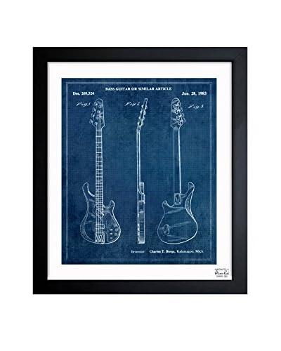 Oliver Gal Bass Guitar Or Similar Article 1983 Framed Art