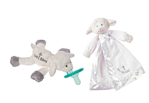 Mary Meyer Christening Lamb Blanket & Pacifier front-982029