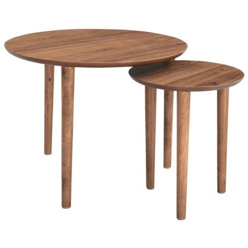 テーブル 机 木製 北欧 トムテ 北欧家具 ラウンドネストテーブル TAC-224WAL