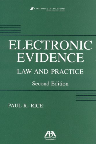 Electronic Evidence: Law and Practice (Electronic...