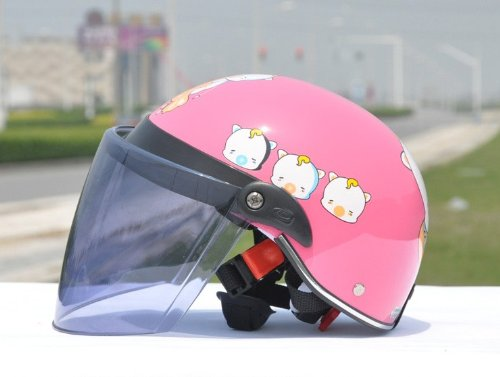 Bikman Pig Helmet Children'S Helmet Motorcycle Helmet Electric Cars Cartoon Helmet Half-Face Helmet Summer Helmet (Pink)