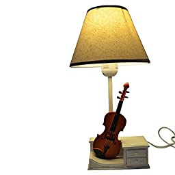 GiftGarden Violin Base Table Lamp Home Desk Light