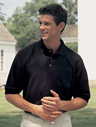 Big Mens Signature 8.2 oz 100% Combed Cotton Pique Pocket Polo Golf Shirt (Big & Tall and Regular Si