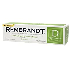 Rembrandt Deeply White + Peroxide Whitening Toothpaste with Fluoride, Fresh Mint 2.6 oz / 74 g