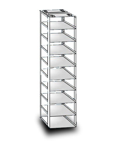 """So-Low 29-9-3 Rack For Chest Style Ultra-Low Freezers. 9 Shelves For 3"""" Boxes. front-455936"""