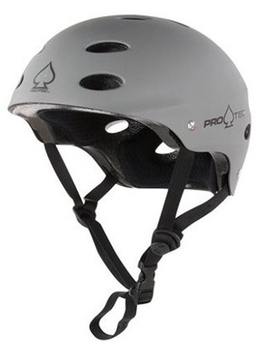 Protec Ace Matte Grey Helmet (Small)