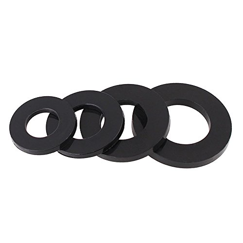 100pcs/lot M2 M2.5 M3 M4 M5 M6 M8 M10 M12 White Black Plastic Nylon Flat Washers Metric (M3 x 6 x 1, Black) (M10 Plastic Washer compare prices)