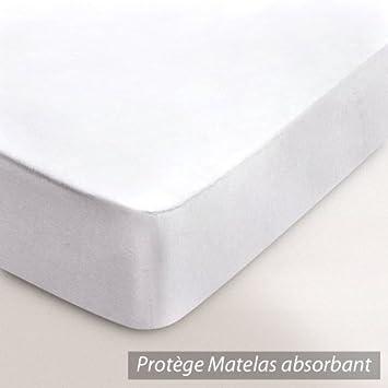 Prot ge matelas absorbant absorbant antonin blanc 90x200 cuisine maison maison - Protege matelas 90x200 ...