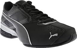 PUMA Men\'s Tazon 6 Cross-Training Shoe, Black/Silver, 9 M US