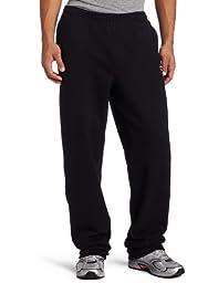 Champion Men\'s Open Bottom Eco Fleece Sweatpant, Black, Medium