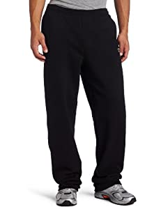 Champion Men's Open Bottom Eco Fleece Sweatpant, Black, Large