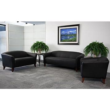 3pc Modern Leather Office Reception Sofa Set - FF-0425-12-S1
