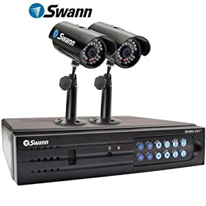 BRAND NEW SWANN SW343-DP2 / DVR4-950 The Perfect Security Kit for Home or Business Surveillance Security Recorder Kit 4-CHANNEL DVR WITH 320 GB HARD DRIVE and 2 Cameras