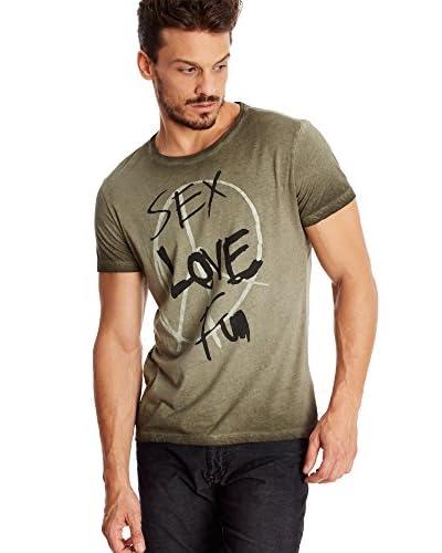 Desigual T-Shirt Manica Corta Sex Love And Pe [Grigio]
