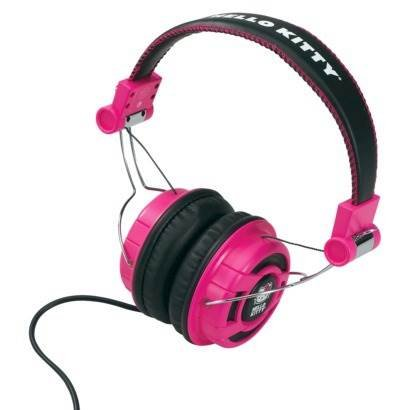 Foldable Over-The-Ear Headphones - Pink/Black (Kt2091Mby)-Hello Kitty