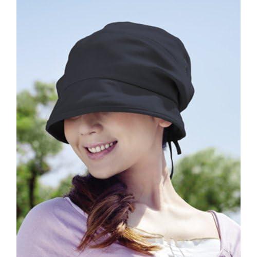 すっぴん女優帽 ブラック