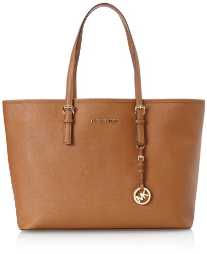 Michael Kors Jet Set Multifunction Brown Saffiano Tote