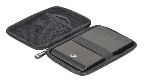 Duronic HDC2 Small Black EVA Case for External Portable Hard Drive - Suitable for WD/western digital/Toshiba/Buffalo/Hitachi/Seagate/Samsung - Can fit many sizes incl. 500gb 1tb + More