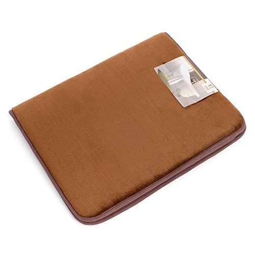 Memory foam bathrug chocolate brown bath mat and shower rug small 17 x 24 inches non slip for Chocolate brown bathroom rugs
