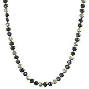Black Multi-Colored Baroque Freshwater Pearl Endless Necklace