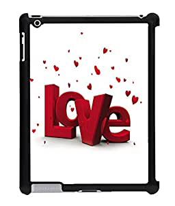 Fuson 2D Printed Valentine Love Designer Back Case Cover for Apple iPad 2 - D588