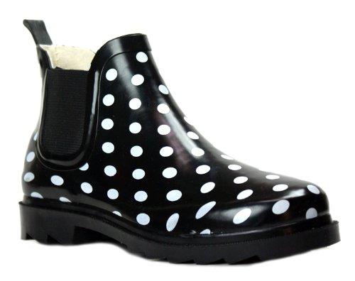 New Sunville Brand Women's Short Ankle Rubber Rain Boots
