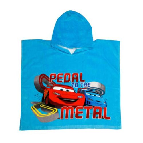 Disney Cars Pedal To The Metal Kids Hooded Beach Towel Poncho