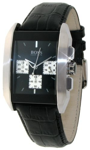 Hugo Boss Men's 1512581 Chronograph Black Leather Strap Watch