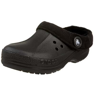 Crocs Unisex Blitzen Corduroy Clog,Black/Black,Men's 4 M/6 M